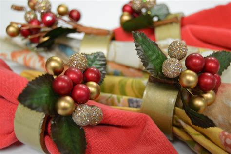diy christmas napkin rings diy holiday napkin rings