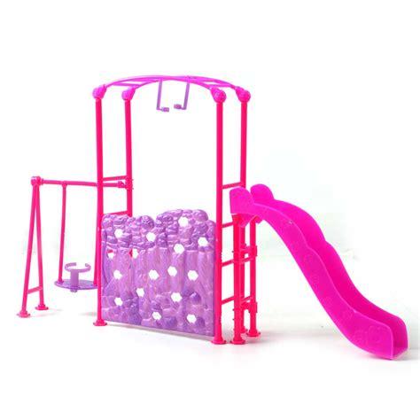 barbie swing hot mini playground slides climber swing for barbie kelly