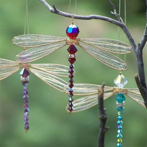 beaded dragonfly dragonfly suncatcher yard garden yard ideas