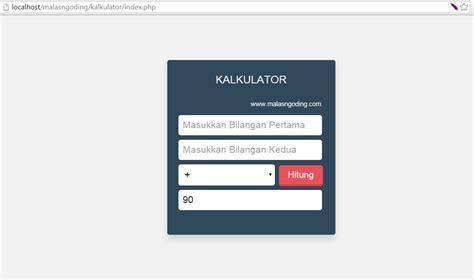 membuat komentar web dengan php membuat kalkulator sederhana dengan php malas ngoding