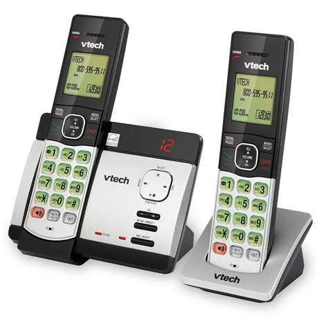 2 Handset Cordless Phone System With Caller Id Call