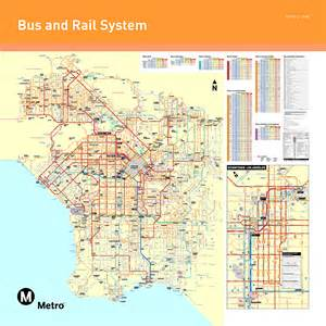 La Metro System Map by La Metro Home Maps Amp Timetables