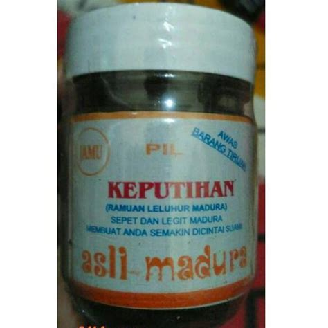 jamu keputihan tradisional madura shopee indonesia