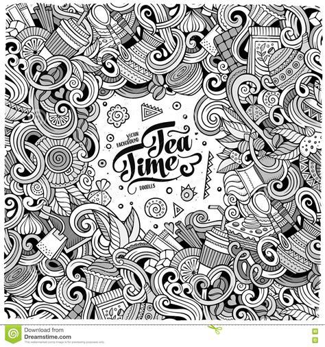 doodle cafe doodles of cafe coffee shop background