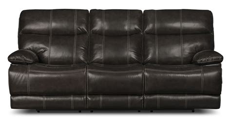 real leather reclining sofa gavin genuine leather power reclining sofa grey united