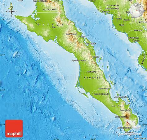 physical map of california physical map of baja california sur