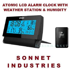 wireless weather station atomic radio controlled lcd alarm
