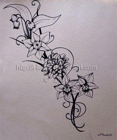 narcissus flower tattoo designs birth flower december narcissus flower tattoos