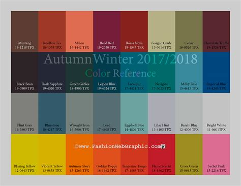 fall 2017 pantone colors aw2017 2018 trend forecasting on behance