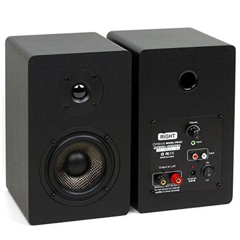 micca pb42x powered bookshelf speakers with 4 inch carbon