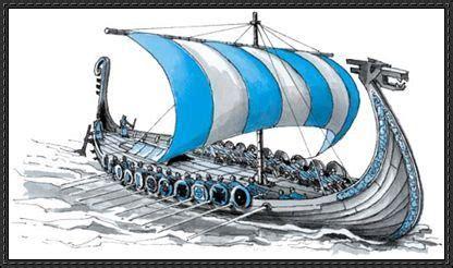 viking longboat origami viking ship paper model free download papercraft