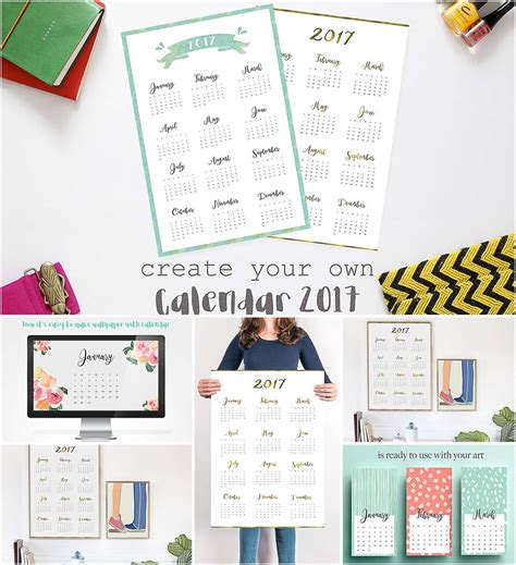 make a personal calendar create your own 2017 calendar free