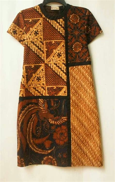 Dress Batik Sogan Motif dress reshaped puzzled sogan klambi batik