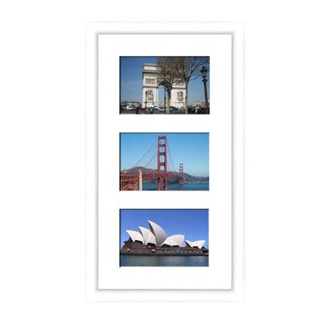cadre en bois arrondi blanc 2 cm multivues 3 photos 15 x 10 ou 10 x15