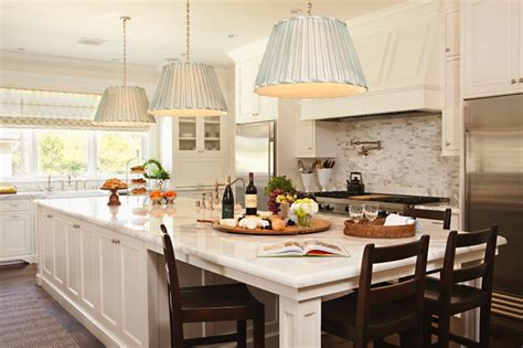 long island kitchens pleated pendants transitional kitchen thornton designs