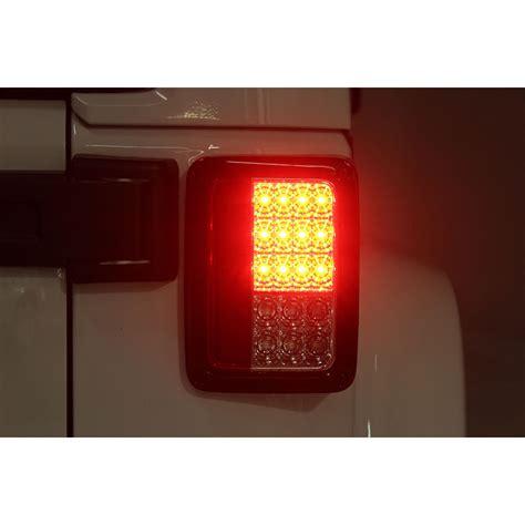 smoked lights for jeep wrangler 07 15 jeep wrangler performance led tail lights black smoked