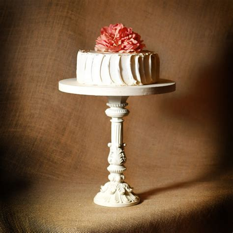 shabby chic cake stand shabby chic pedestal antiqued cake stand 12 by
