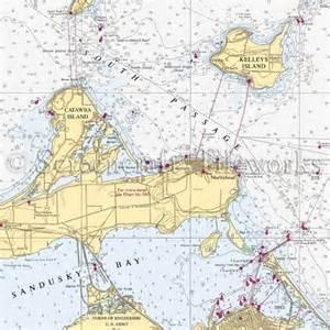 Kitchen Island Table Combination Ohio Kelleys Island Catawba Island Nautical Chart Decor