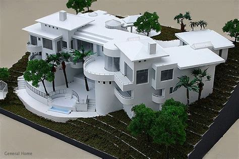 modern style house wooden model kit ho 3d wood miniature scale architectural models homes kits architectural
