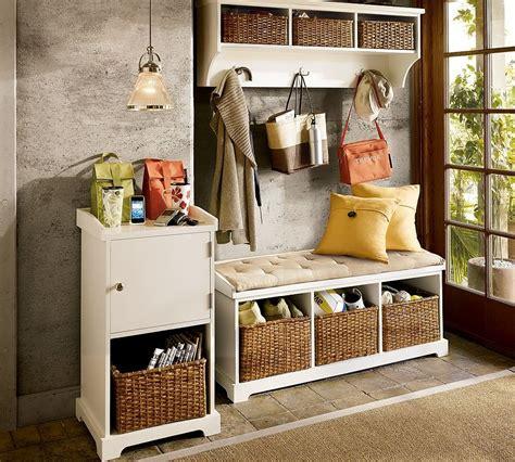 foyer storage entryway hall tree with storage cabinet stabbedinback