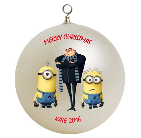 personalized despicable me minions and gru christmas