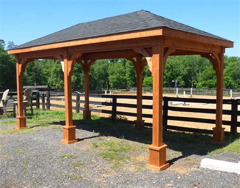 gazebo 6x6 cedar gable open rectangle pavilions pavilions