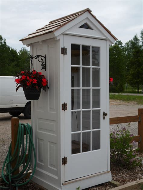Garden Shed Doors by Remodelaholic 100 Ways To Use Doors