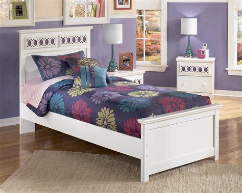 signature design  ashley zayley twin platform bed  customizable color panels john