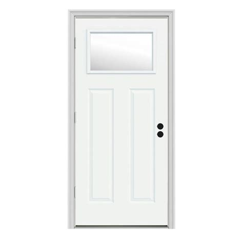 34 Interior Door 34 X 80 Exterior Prehung Single Door Steel Doors Front Doors Doors The Home Depot
