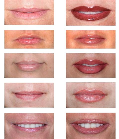 tattoo lip liner before and after before after permanent lip makeup permanent makeup