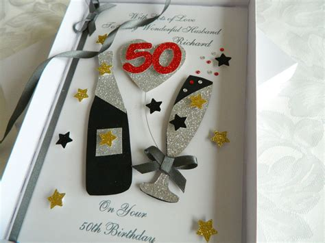 Birthday Handmade Cards For Boyfriend - handmade personalised birthday card boyfriend husband