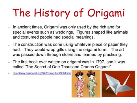 The Origin Of Origami - origami