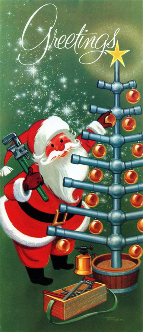Santa Plumbing by Neato Coolville Occupational Cards With Santa