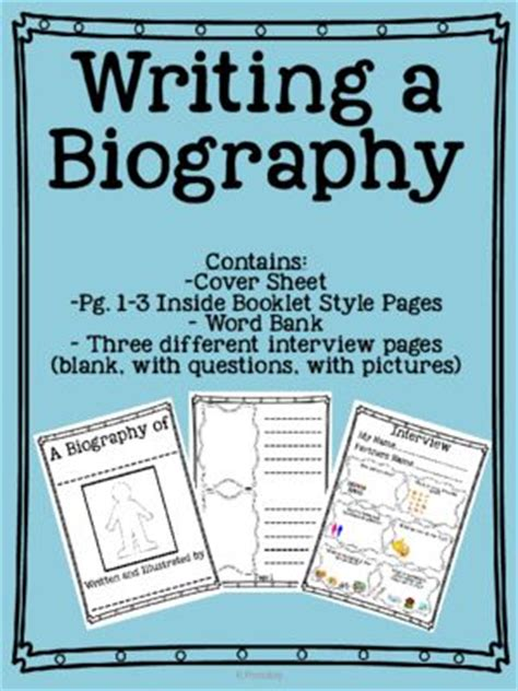 biography writing interview questions 15946 best images about prek 2nd grade on pinterest