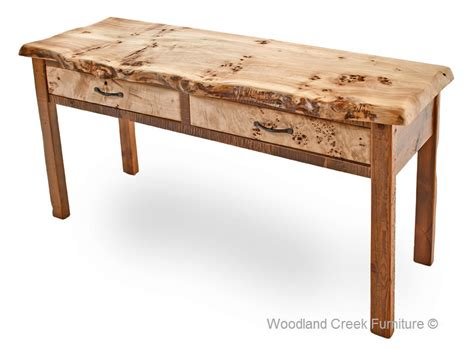 barn wood sofa table with burl wood reclaimed cocktail