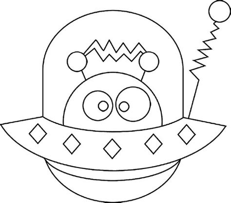 space monster coloring page cute alien by enokson