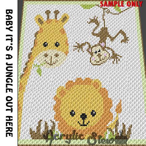 Hero4 Monkey baby giraffe monkey jungle animals by acrylic stew on zibbet