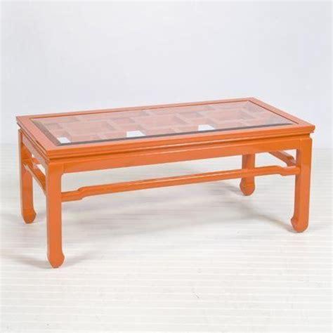 Orange Coffee Table Worlds Away Changright Orange Coffee Table Traditional Coffee Tables By Candelabra