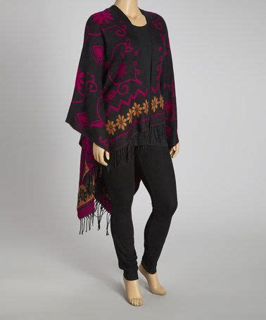 Silk blend poncho plus by life and style fashions on zulily today
