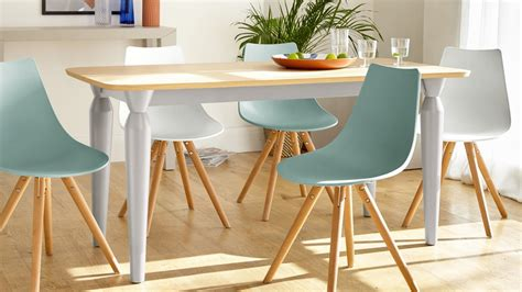 6 Seater Oak Dining Table And Chairs Modern 6 Seater Oak And Matt Dove Grey Dining Table Uk