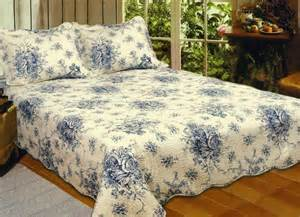 Yellow Comforter Set French Country Blue Rose King Quilt Set Cottage