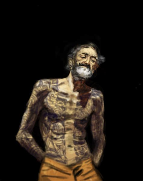 old man with tattoos fortuny tribute tattooed by scolomar on deviantart