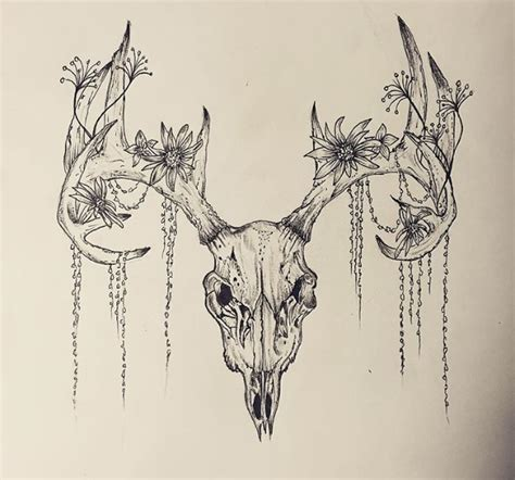 tribal antler tattoos deer skull tattoos deer skull