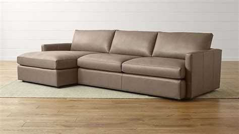 Sofas And Sectionals by Lounge Ii Leather 2 Left Arm Chaise Sectional Sofa