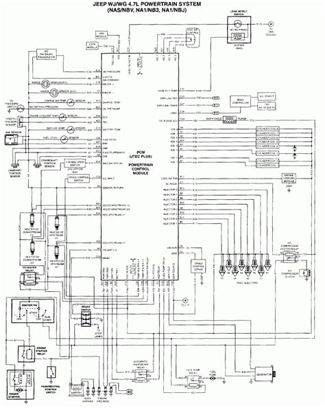 2006 Jeep Grand Wiring Diagram 2001 Jeep Grand 4 7 Engine Wiring Harness 50