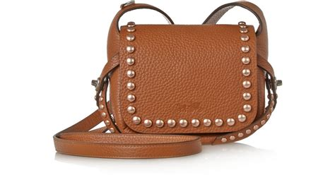 Coach Textured Leather Bag by Coach Dakotah Studded Textured Leather Shoulder Bag In Brown Lyst