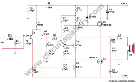 mos fet power schematic mos get free image about