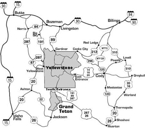 yellowstone national park lodging map directions to the buffalo bill center of the west