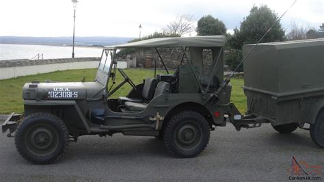 ford jeep 1942 willys ford gpw ww2 jeep and trailer