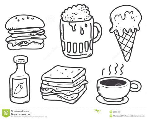 doodle food food and drink doodle stock illustration image of design